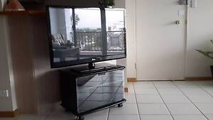 Black TV Cabinet With Glass Doors - In Great Condition Runaway Bay Gold Coast North Preview