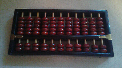 Vintage Wooden Chinese Abacus 91 Wooden Beads