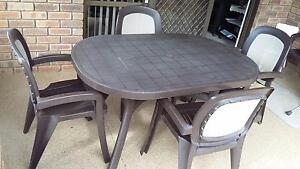 Outdoor 7 piece table and chairs set Willagee Melville Area Preview