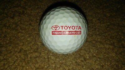 Toyota Financial Services Logo Titleist Golf Ball