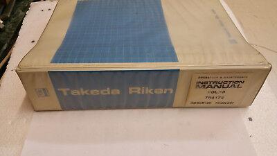 Takeda Riken TR4172 Spectrum Analyzer Handbuch vol. 3