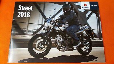 Suzuki Street GSX S1000 S750 S125 SV650 motorcycle brochure catalogue 2018 MINT