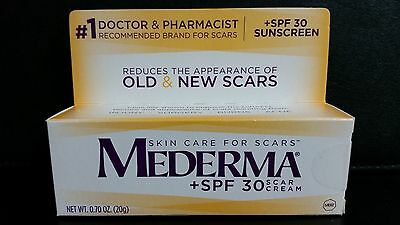 MEDERMA +SPF 30 Skin Care for Scars, Scar CREAM 0.70 oz. (20g)
