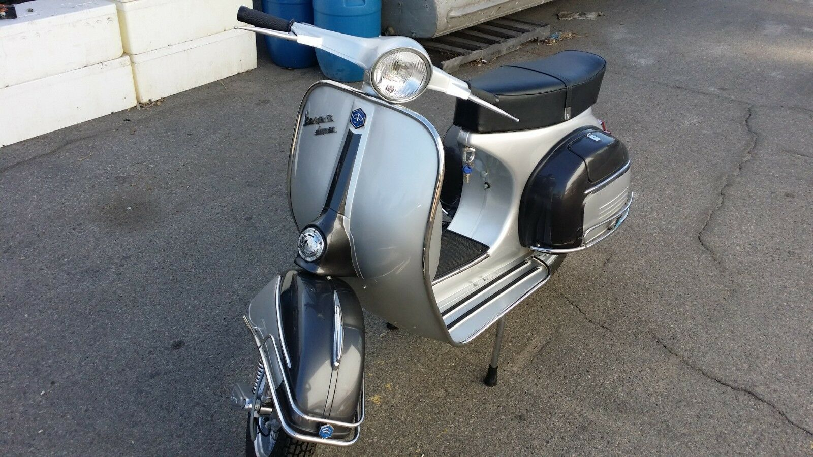 Newly Restored 1966 Gunmetal & Sliver Vespa 150 with NEW engine!