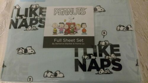 "Peanuts ""SNOOPY"" Full Sheet Set BY Berkshire Blanket & Home"