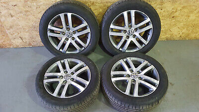VW GOLF MK6 2008-2013 ATLANTA ALLOY WHEELS & FREE TYRES 1K0601025BM 205/55 R16