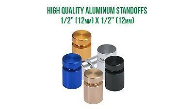 12 Diameter 12 Barrel Length Sign Standoffs Signage Standoffs Aluminum