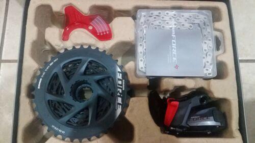 Sram force axs 36t upgrade kit, medium cage rear derailleur, 36t cassette, new