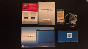 Nintendo 3DS xl Blue Full Set with Warranty.