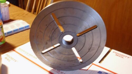 """8"""" Diameter lathe Face Plate With your choice of  threaded hole"""