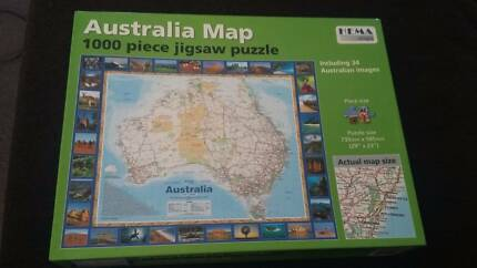 Jigsaw puzzle - Australia map, 1000 pieces