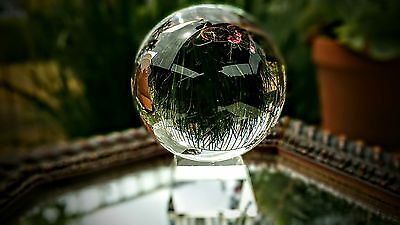 """Clear Crystal Quartz Healing Ball Sphere 110mm 4.2"""" With Elegant Crystal Stand"""