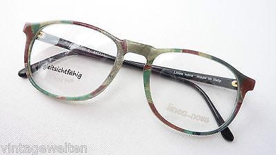 Pantobrille mit Seide Acetat Naturtöne Herrenfassung Gestell Brillen Grösse M
