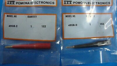Pomona 4908 Flexible Tip Probe One Red One Black
