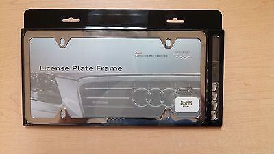 Audi ZAW071801B License Frame Polished Stainless Steel