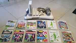 Nintendo Wii Console With 12 Games & Fit Board Kidman Park Charles Sturt Area Preview