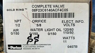 80f23c6140acf4c05 Parker Stainless Steel Solenoid Valve 12 Npt