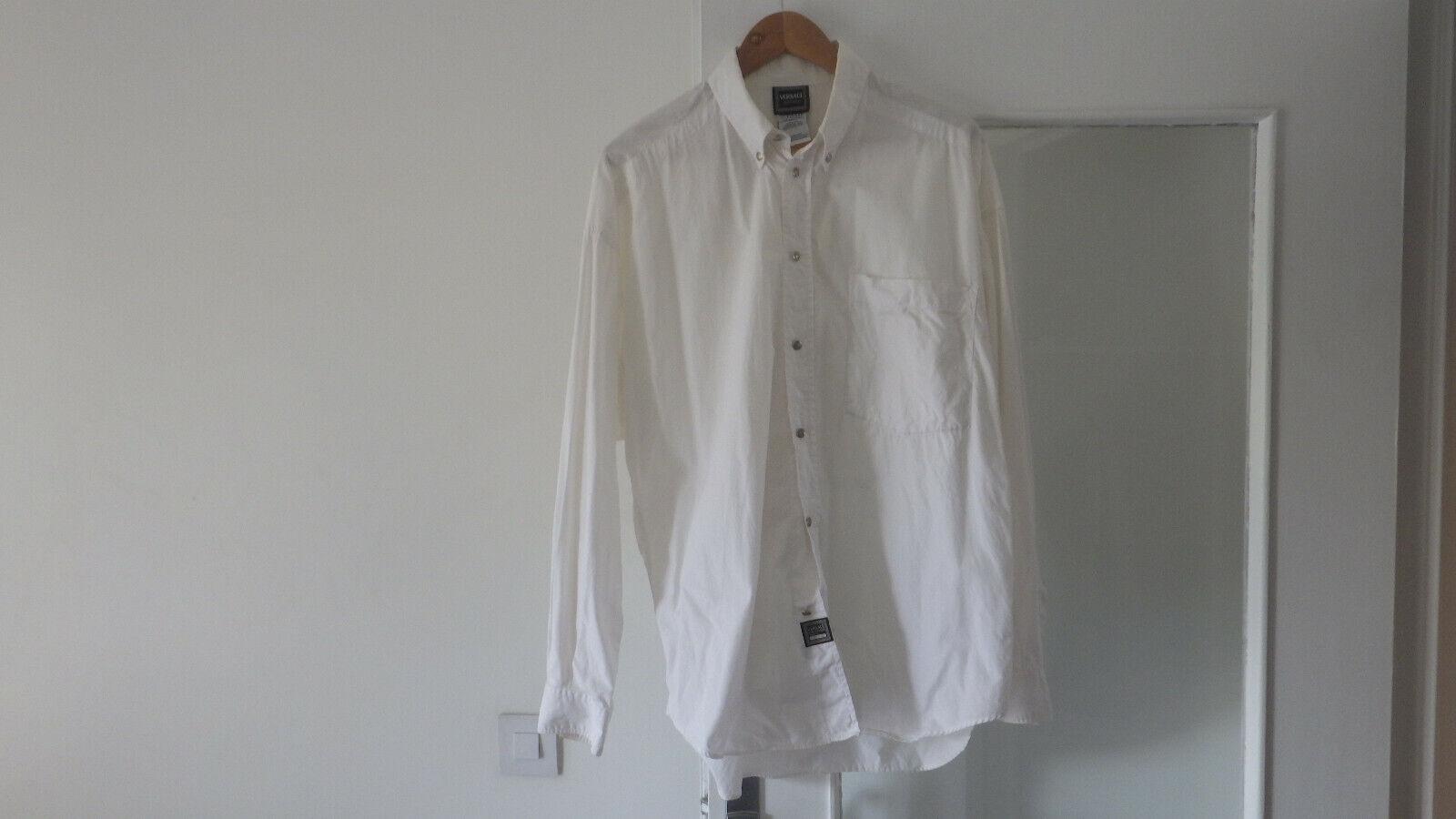 Chemise versace blanche de taille l numerotee