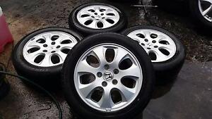 Honda Accord Euro Alloy Wheels With road Worthy tyres Sunshine Brimbank Area Preview
