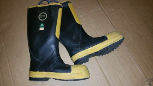 8.5 (Medium) Airboss Firefighting Protective Steel Toe Rubber Boot Turnout Gear