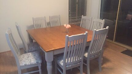 Wanted: 8 seater dining table and chairs