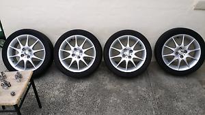 Four 16 inch alloys on Falken 205/45/R16 tyres Boronia Knox Area Preview