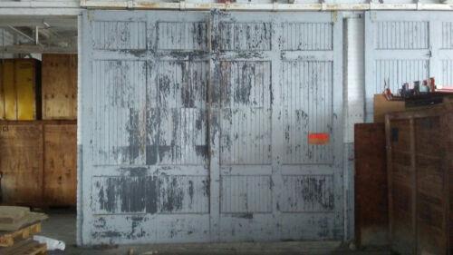 "GIANT Vintage Salvaged Reclaimed Sliding Barn Wood Warehouse Door 162""x144"" A"