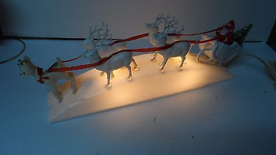HTF Old 1950's Royal Electric Co - RUDOLPH w REINDEER & SANTA LIGHT