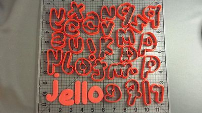 - Jello Font Lowercase Cookie Cutter Set