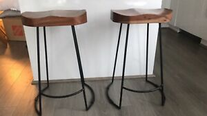 Pair of modern stools - kitchen island counter height