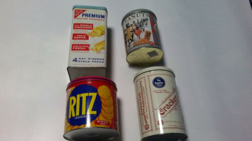 vintage tin cans set of 4 total