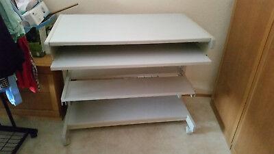🌻 Vielhauer hochwertiger PC-Tisch Computertisch Druckerablage etc. 🌻