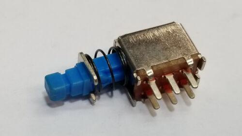 Micro Push switch, 6 pin latching, push on - push off
