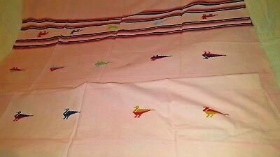 Pink Spanish southwestern weave design fringed 50