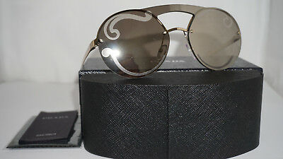 PRADA New Sunglasses Authentic Pale Gold Gold Mirror PR 65TS ZVN0DW 36 140