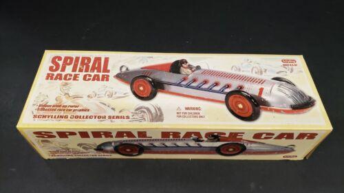 VINTAGE SCHYLLING WIND UP TOY SPIRAL RACE CAR  J87