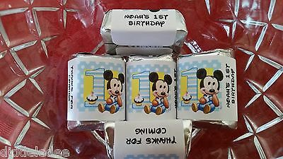 Mickey Mouse 1st First Birthday Hershey Nugget Wrappers Party Favors 30 pc