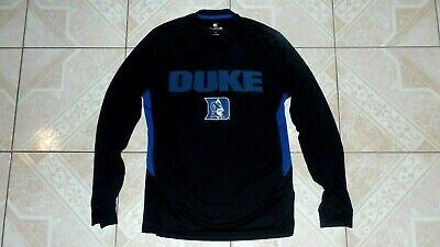 Duke Blue Devils Colosseum Pullover Long Sleeve Shirt Jersey Sewn Logo M New