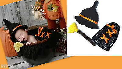 ★★★NEU Baby Fotoshooting Kostüm 3Tlg. Kleine Hexe 0-6 Monate ★★★Nr.L