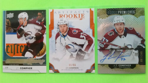 Lot Of 3 J.t Compher Young Guns Yg & Artifact& Rookie Premieres Auto / 349