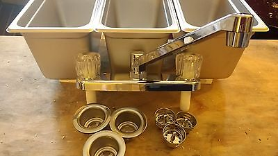 New Small 3 Compartment 14 Pan Sink Set For Concession Stand Food Trailer