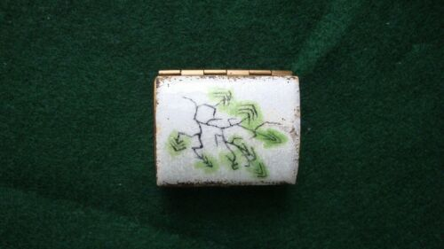 Vintage Enameled Trinket Pill Box