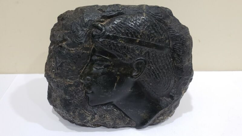 Heavy Carved Stone Sculpture, Signed by Jean Portal