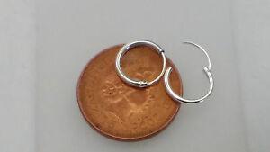 New Girls Ladies Mens 925 Sterling Silver Sleeper Hoop Small Tiny Earrings 10mm