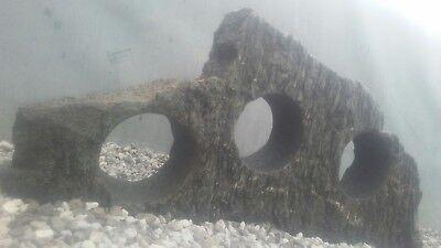 Fish tank aquarium mountain sculpture swim through hide cave holey rock stone