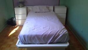 Set de chambre à coucher lit simple