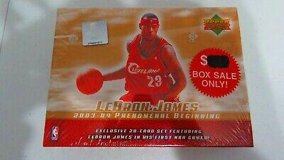 LEBRON JAMES 2003-04 Upper Deck Phenomenal Beginning Sealed Set Rookie Year