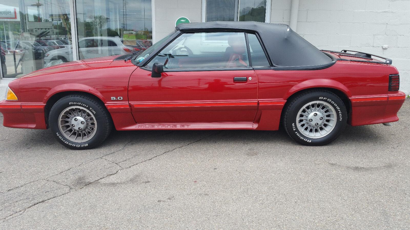 1988 ford mustang gt convertible 5 speed 57 000 original. Black Bedroom Furniture Sets. Home Design Ideas