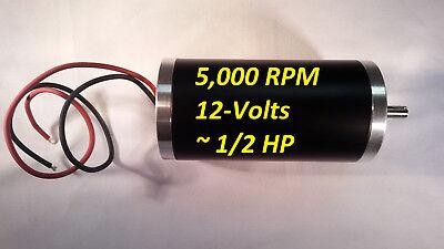 12-vdc 5000-rpm Permanent-magnet Servo Electrical-motor 8mm Keyed Project 12-hp