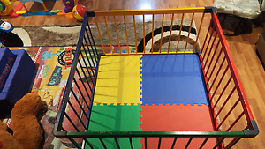 Jolly Kidz wooden playpen Canning Vale Canning Area Preview